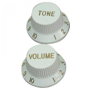 Guitar Tech Strat Style Knobs, White