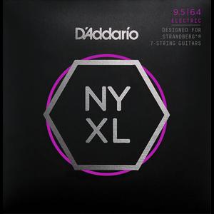 D'Addario NYXL Electric String Set, 7-String for Strandberg Guitars, Custom Light, .0095-.064