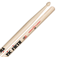 Vic Firth American Classic Hickory Drumstick, Wood Tip, 2B