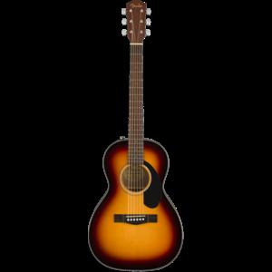 Fender CP-60S Parlour Guitar, 3-Tone Sunburst
