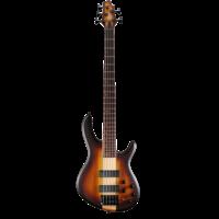 Cort C5 Artisan 5-String Bass Guitar, Open Pore Tobacco Burst