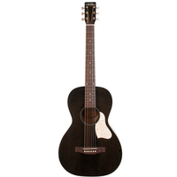Art & Lutherie Roadhouse Parlour Electro-Acoustic, Solid Spruce Top, Wild Cherry Back, Faded Black w/ Fishman Sonitone