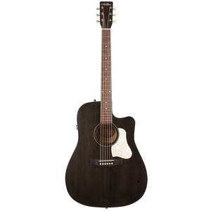 Art & Lutherie Americana CW Dreadnought Electro-Acoustic, Solid Spruce Top, Wild Cherry Back, Faded Black w/ Q1T Pickup