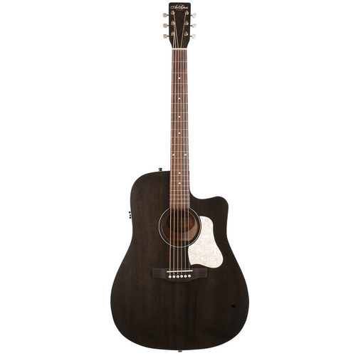 Art & Lutherie Art & Lutherie Americana CW Dreadnought Electro-Acoustic, Solid Spruce Top, Wild Cherry Back, Faded Black w/ Q1T Pickup