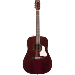 Art & Lutherie Americana Dreadnought Electro-Acoustic, Solid Spruce Top, Wild Cherry Back, Tennessee Red w/ Q1T Pickup