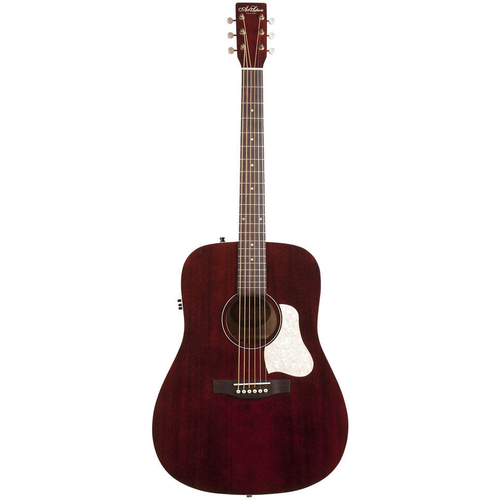 Art & Lutherie Art & Lutherie Americana Dreadnought Electro-Acoustic, Solid Spruce Top, Wild Cherry Back, Tennessee Red w/ Q1T Pickup