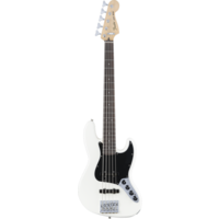 Fender Deluxe Active 5-String Jazz Bass V, Pau Ferro Fingerboard, Olympic White