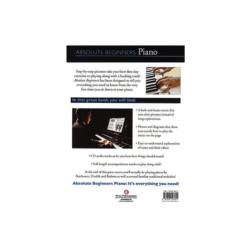 Wise Publications Absolute Beginners: Piano