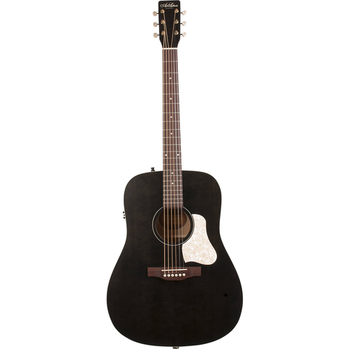 Art & Lutherie Art & Lutherie Americana Dreadnought Electro-Acoustic, Solid Spruce Top, Wild Cherry Back, Faded Black w/ Q1T Pickup