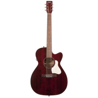 Art & Lutherie Legacy Concert Hall Electro-Acoustic, Solid Spruce Top, Wild Cherry Back, Cutaway, Tennessee Red w/ Q1T Pickup