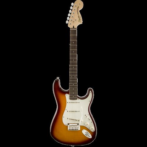 Squier Squier Standard Stratocaster FTM, Flame Maple Top, Amber Sunburst
