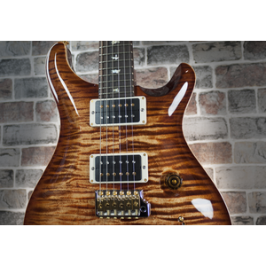 PRS Wood Library Custom 24, 10 Top Copperhead Burst, Matched Flame Maple Neck #246387