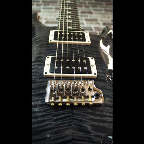 PRS PRS Custom 24 10 Top, Grey Burst, Ebony Fingerboard #236900