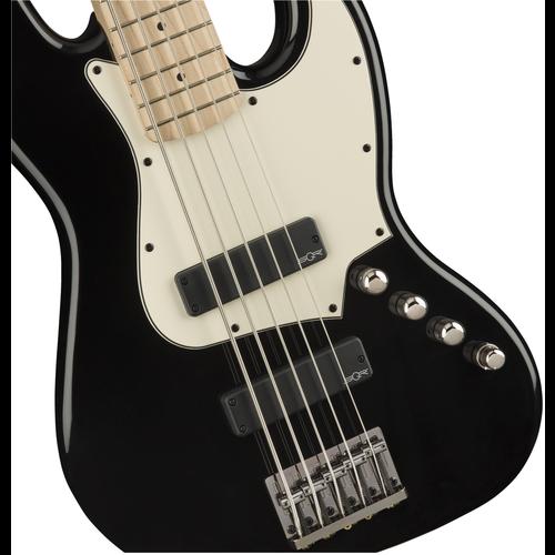 Squier Squier Contemporary 5-String Active Jazz Bass HH V, Black