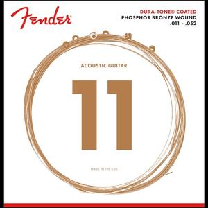 Fender Duratone Coated Acoustic String Set, Phosphor Bronze