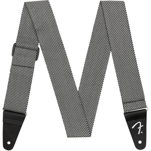 "Fender Accessories Fender Strap 2"" Modern Tweed, White/Black"