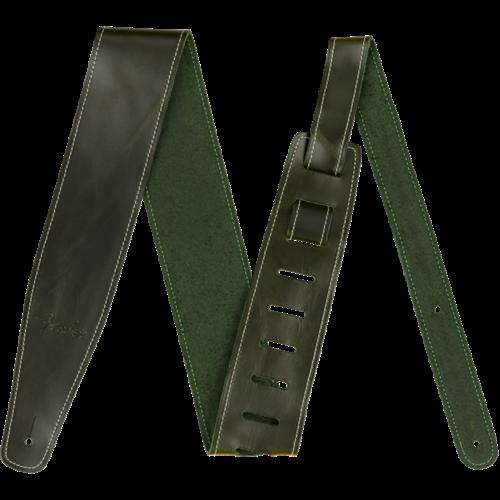 Fender Accessories Fender Strap Broken-In Leather, Green