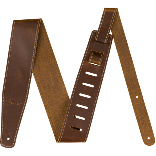 Fender Accessories Fender Strap Broken-In Leather, Tan