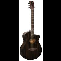 Faith Nexus Venus, Electro-Acoustic, All Solid Mahogany, Copper Black