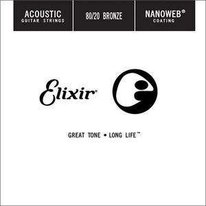 Elixir Nanoweb Coated Single String, 80/20 Bronze