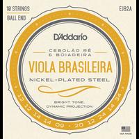 D'Addario EJ82A Viola Brasileira String Set, Cebolao Re and Boiadeira