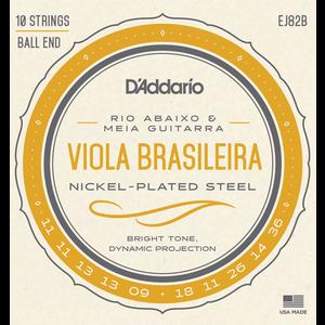 D'Addario EJ82B Viola Brasileira String Set, Rio Abaixo and Meia Guitarra