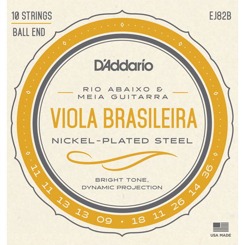 D'Addario D'Addario EJ82B Viola Brasileira String Set, Rio Abaixo and Meia Guitarra