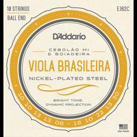 D'Addario EJ82B Viola Brasileira String Set, Cebolao Mi and Boiadeira