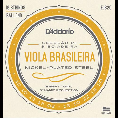 D'Addario D'Addario EJ82B Viola Brasileira String Set, Cebolao Mi and Boiadeira