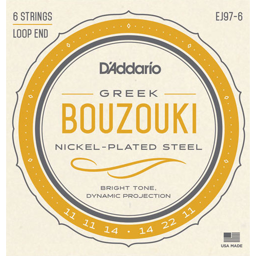D'Addario D'Addario EJ97-6 Greek Bouzouki String Set