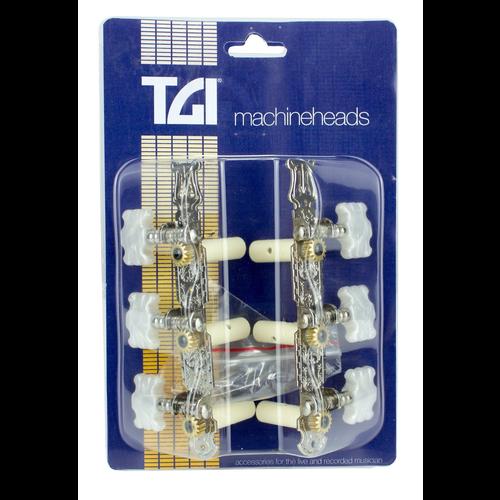 TGI TGI Machineheads Classical (3-a-Side), Lyra Style, Nickel