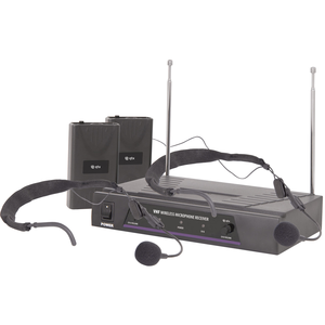 QTX Dual Neckband Microphone VHF Wireless System - 174.1MHz + 175.0MHz