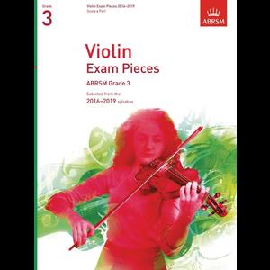ABRSM: Violin Exam Pieces 2016–2019 - Grade 3 (Score & Part)
