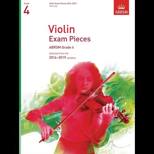ABRSM Publishing ABRSM: Violin Exam Pieces 2016–2019 - Grade 4 (Part)