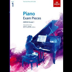 ABRSM Piano Exam Pieces: 2017-2018 - Grade 1 (Book Only)