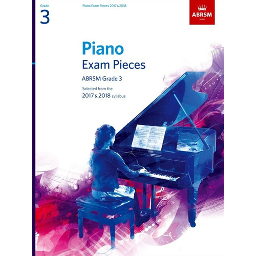ABRSM Publishing ABRSM Piano Exam Pieces: 2017-2018 - Grade 3 (Book Only)