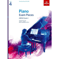 ABRSM Piano Exam Pieces: 2017-2018 - Grade 4 (Book Only)