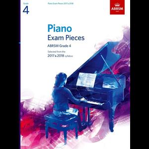 ABRSM Piano Exam Pieces: 2017-2018 - Grade 4 (Book Only)