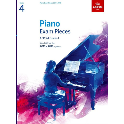 ABRSM Publishing ABRSM Piano Exam Pieces: 2017-2018 - Grade 4 (Book Only)