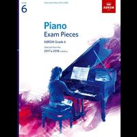ABRSM Piano Exam Pieces: 2017-2018 - Grade 6 (Book Only)