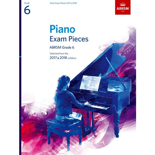 ABRSM Publishing ABRSM Piano Exam Pieces: 2017-2018 - Grade 6 (Book Only)