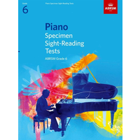 ABRSM Piano Specimen Sight Reading Tests: From 2009 - Grade 6