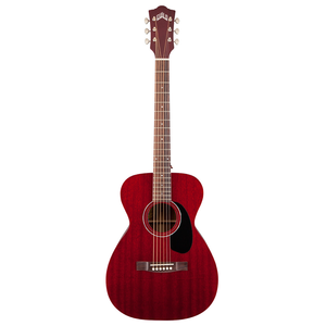 Guild M-120-E Electro-Acoustic Concert Guitar, All Solid Mahogany, Cherry Red