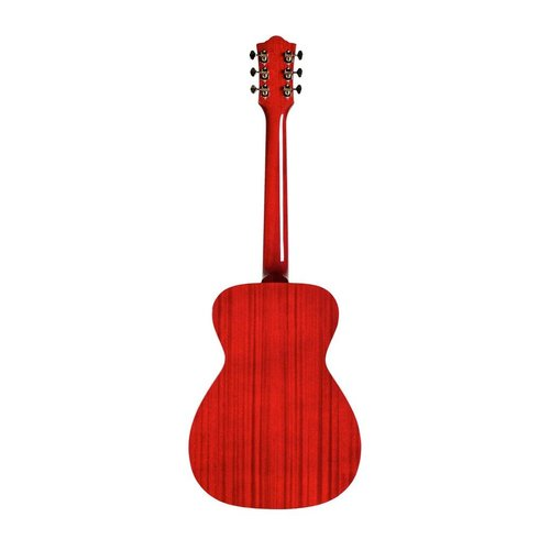 Guild Guild M-120-E Electro-Acoustic Concert Guitar, All Solid Mahogany, Cherry Red