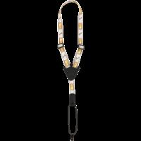 Fender Ukulele Strap Monogrammed, White/Brown/Yellow