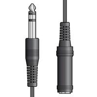 AV:Link 6.3mm Jack Plug to 6.3mm Jack Socket, 6m