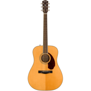 Fender Paramount PM-1E Standard Dreadnought, All Solid Spruce/Mahogany w/ Hard Case, Natural