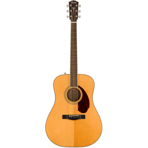 Fender Fender Paramount PM-1E Standard Dreadnought, All Solid Spruce/Mahogany w/ Hard Case, Natural