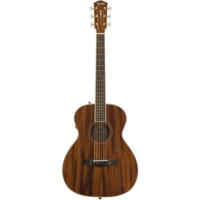 Fender Paramount PM-TE Electro-Acoustic Travel Guitar, All Solid Mahogany w/ Hard Case