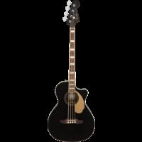 Fender Kingman Bass V2 Acoustic Bass, Solid Spruce Top, w/ Fishman Pickup w/ Case, Black